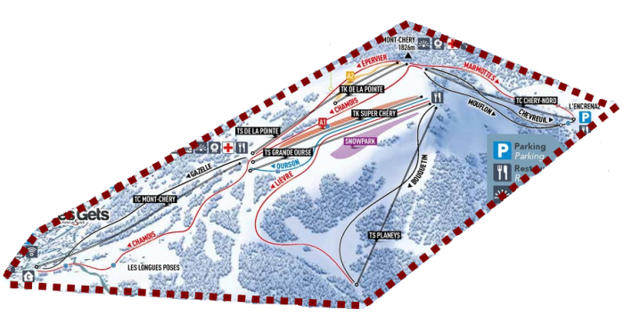 Les Gets ski area: Mont-Chery Sector