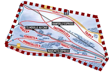 Les Gets ski area: Ranfolly-Nauchets Sector