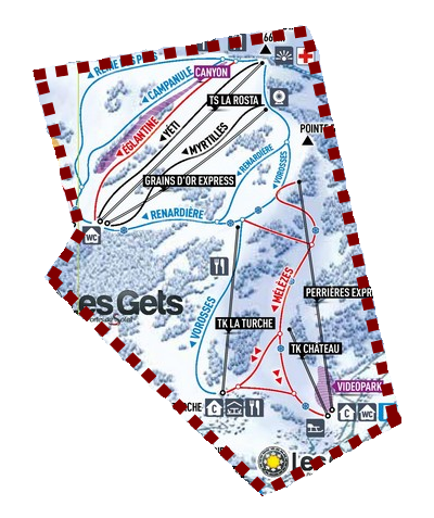 Les Gets ski area: Rosta-Perrieres Sector
